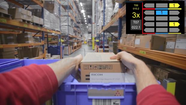 DHL vision picking wearables