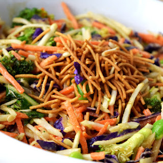 Asian Broccoli Slaw with Ginger Peanut Dressing Recipe