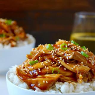 Slow Cooker Pulled Chicken Teriyaki