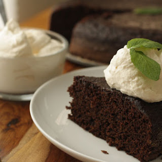 Rodelle Dark Chocolate Cake with Baileys Whipped Cream.