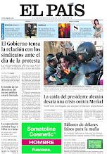Photo: Las relaciones entre Gobierno y sindicatos en vísperas de la protesta, la caída del presidente alemán y la carga policial contra estudiantes en Valencia, en nuestra portada http://cort.as/1cF5