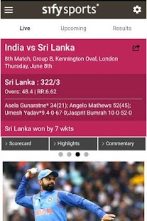 Cricket Live Scores & News - Sify- screenshot thumbnail