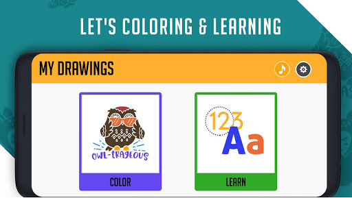Coloring & Learning: Characters, Alphabets, Digits android2mod screenshots 1
