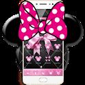 Pink Black Minny Bowknot Theme icon