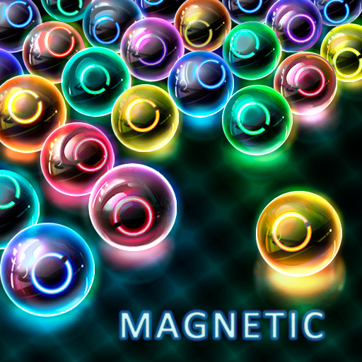 Magnetic balls: glowing neon HD Icon