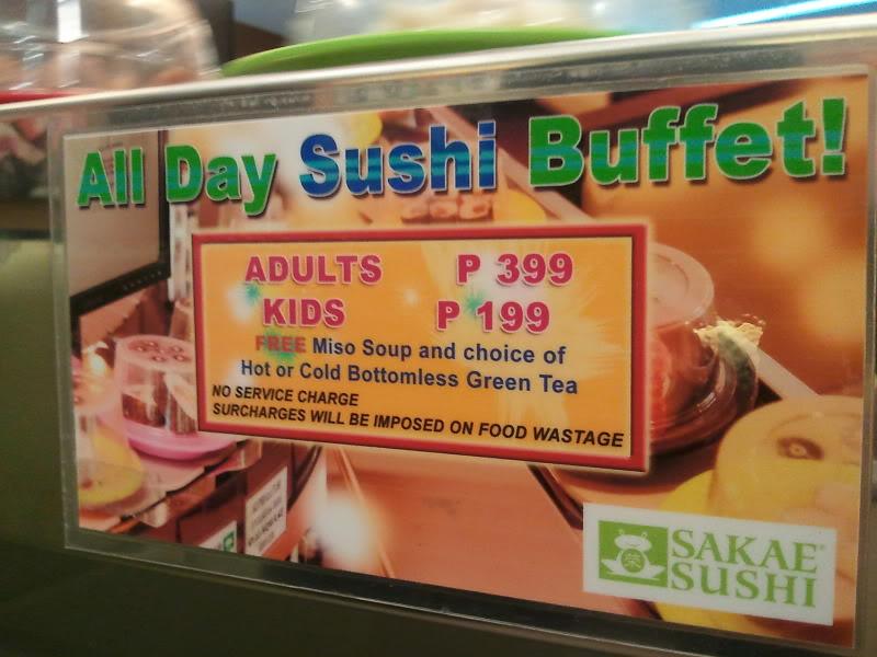 sakae sushi buffet