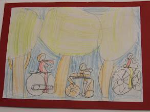 """Photo: praca  Antka : Jeździmy rowerem bo ... tysiące ludzi na całym świecie nie może się mylić """""""