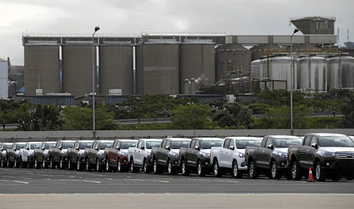 New vehicles at the Toyota plant in Durban. Car makers are watching SA for more investor-friendly policies to protect the industry. Picture: REUTERS