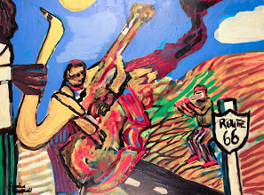 Photo: Route 66 - Acrylic on Canvas