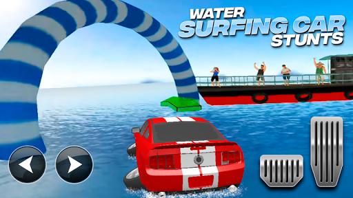 Download Water Surfing Car Stunts MOD APK 1