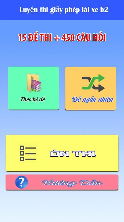 Ôn thi GPLX - 15 đề- 450 câu- screenshot