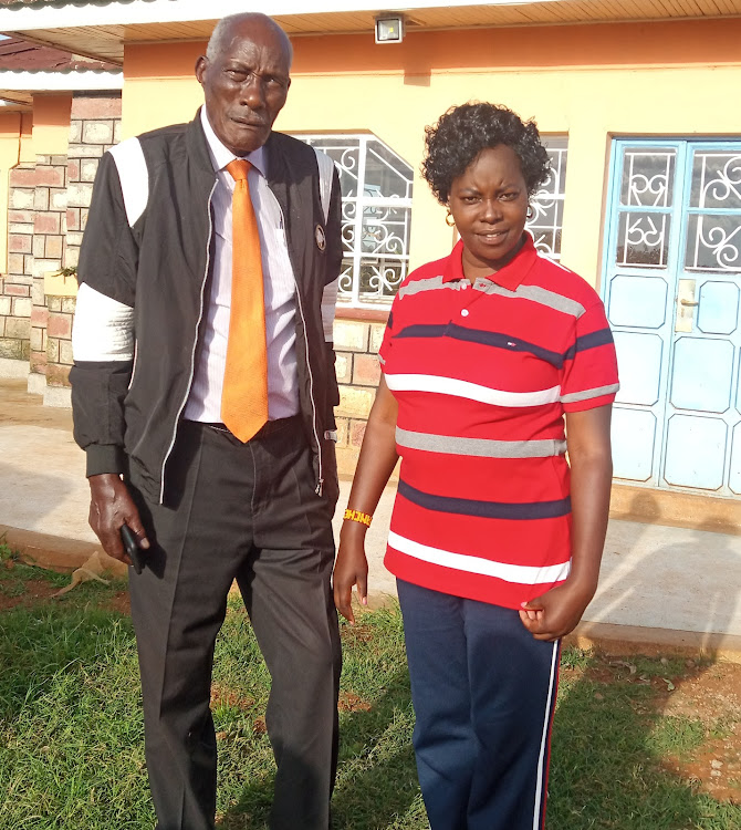 Jackson Kibor with his fourth wife Yunita at their home near Eldoret on September 9.