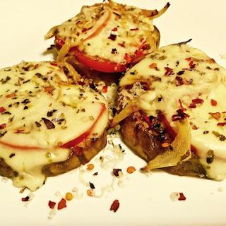 Mini Eggplant Pizzas with no dough