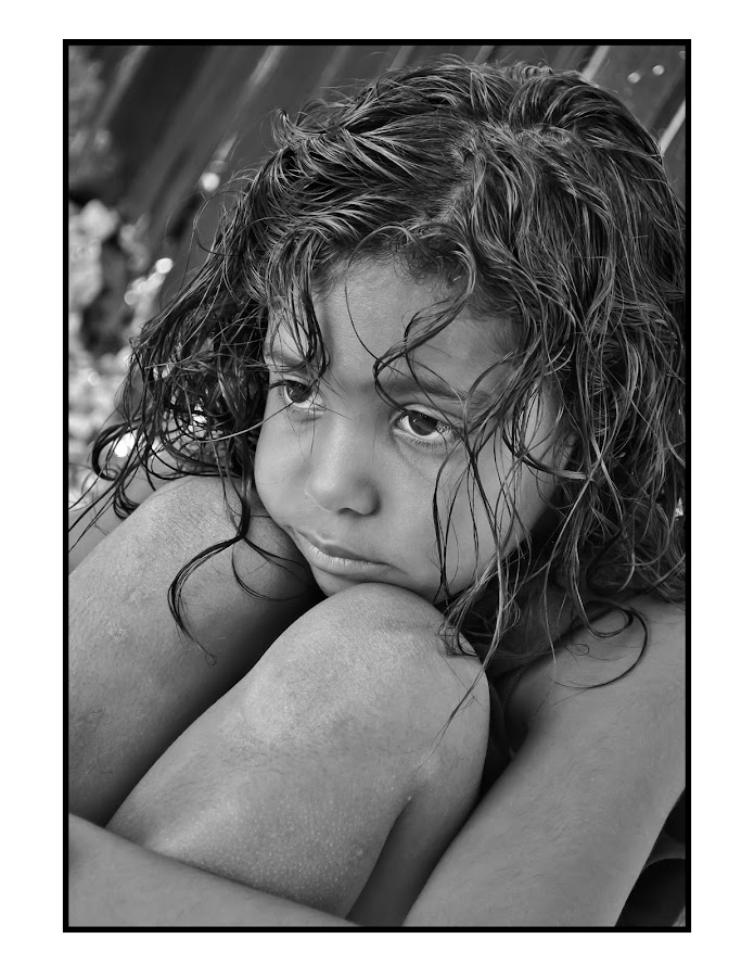 Alone by Theresa Heckel - Babies & Children Child Portraits ( child, girl, sadness, alone )
