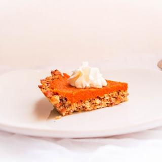 Carrot Halwa Pie with Almonds Crust.
