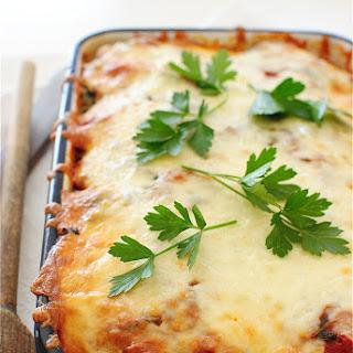 Polenta, Sausage and Spinach Casserole