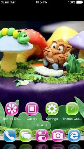 Animal Birthday Cake Theme screenshot
