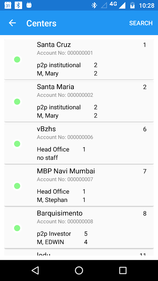 Mifos X Android Client- screenshot