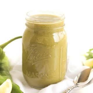 Homemade Green Enchilada Sauce.