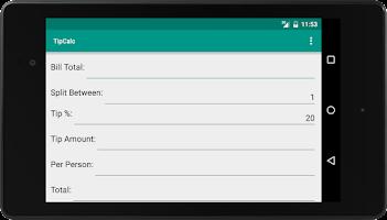 Screenshot of TipCalc