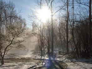 Photo: Sunday morning snow begins to melt