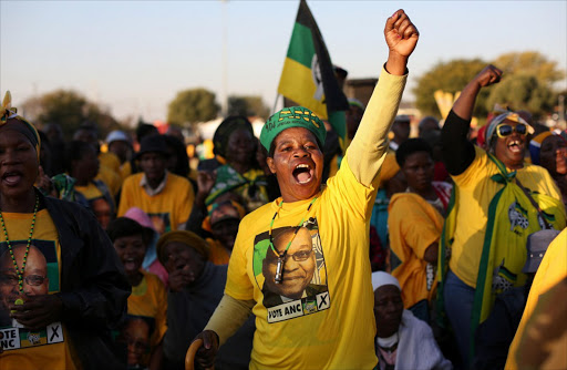 ANC supporters. Picture: REUTERS/SIPHIWE SIBEKO