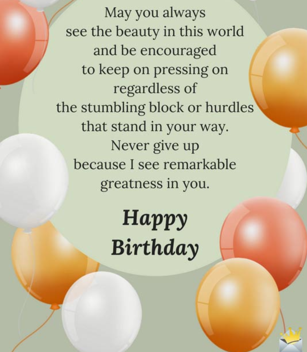 Happy Birthday Images-May you always see the beauty
