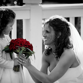 The Bride & Flower Girls by Darlene Lankford Honeycutt - Wedding Getting Ready ( weddings, brides, best photo of 2013, dl honeycutt, flower girls, , improving mood, moods, red, love, the mood factory, inspirational, passion, passionate, enthusiasm )