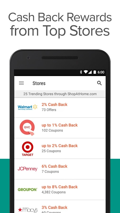 ShopAtHome Cash Back amp; Coupons  Android Apps on Google Play