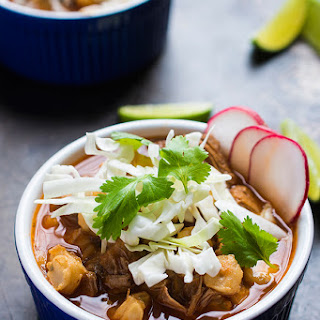 Slow Cooker Posole Rojo {Mexican Pork and Hominy Soup}