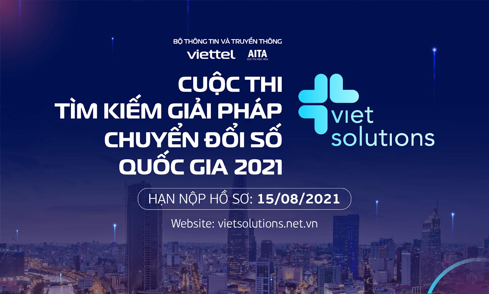 Viet Solutions 2021 - Cuộc thi tìm kiếm giải pháp Chuyển đổi số quốc gia