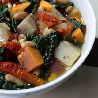 Winter Potato, White Bean, and Kale Soup [Vegan]