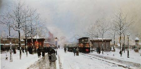 "Photo: Luigi Loir, ""Veduta di Parigi sotto la neve"""