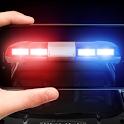Police siren flasher sound icon