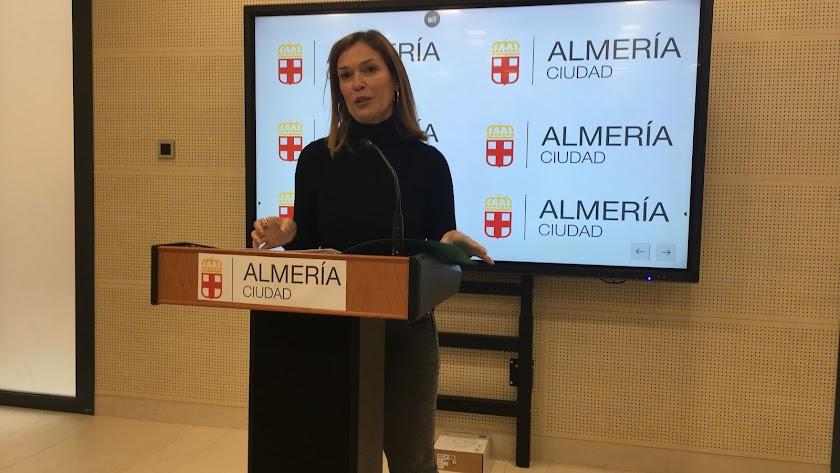 Ana Martínez Labella, esta mañana en Urbanismo.