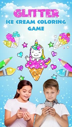 Indir Glitter Ice Cream Coloring For Kids Apk Son Surumu Game88