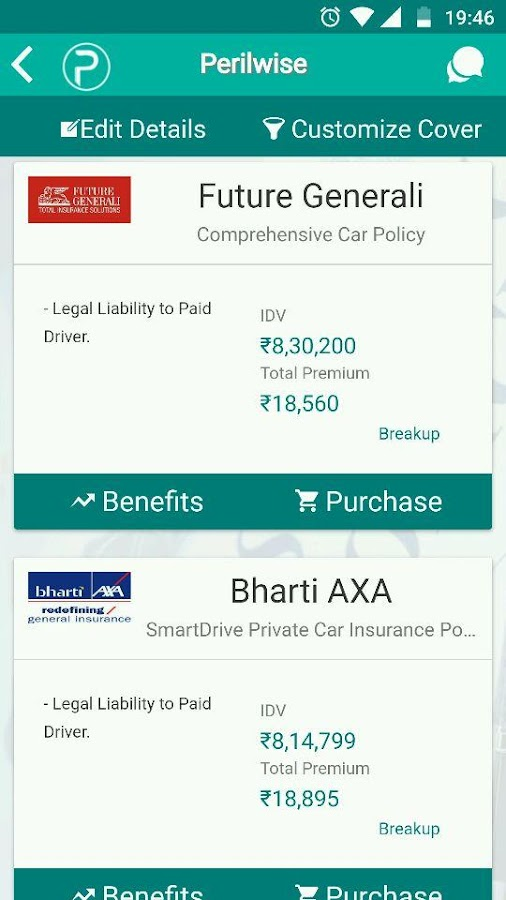 Perilwise - Insurance Policy Manager- screenshot