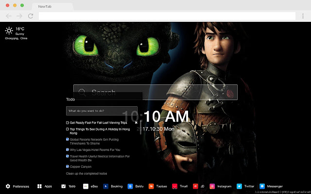 How to Train Your Dragon HD New Tabs Themes