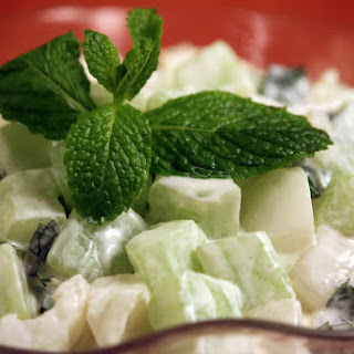 Cucumber, Onion, and Mint Salad.