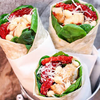 Tuscan Grilled Chicken Wraps.