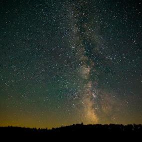 Wellston, MI Milky Way by Jack Goras - Landscapes Starscapes ( michigan, long exspoure, stars, wellston, night, milky way )