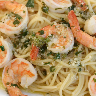 Shrimp Scampi Made With Wine, Butter and Parsley (Video).