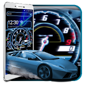 Car Speedometer Neon Theme
