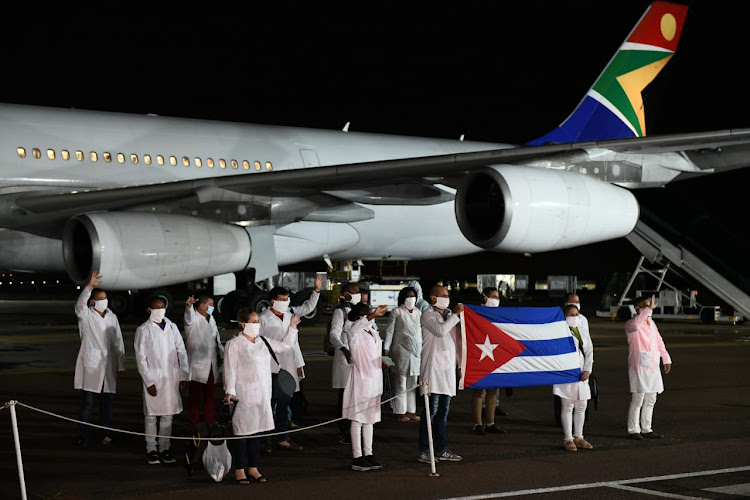 Cuban health specialists arrived in SA on Sunday to support efforts to curb the spread of Covid-19.