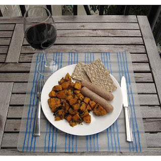 Sausage Baked With Sweet Potatoes & Apples