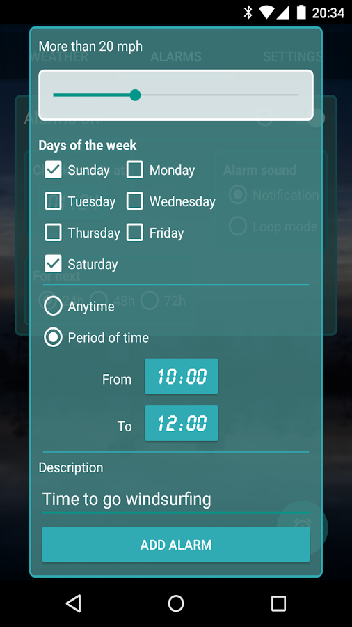 Custom Weather Alerts Pro- screenshot