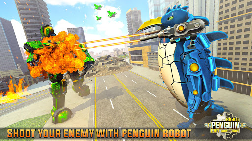 Penguin Robot Car Game: Robot Transforming Games screenshots 1
