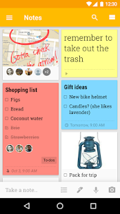 Google Keep- screenshot thumbnail