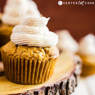 Pumpkin Spice Cupcakes with Cinnamon Frosting.