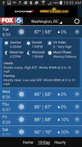 玩免費天氣APP|下載FOX 5 Weather app不用錢|硬是要APP